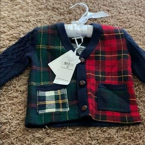 Plaid sweater for toddlers